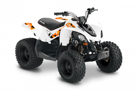 2022 Can-Am DS 90 WHITE