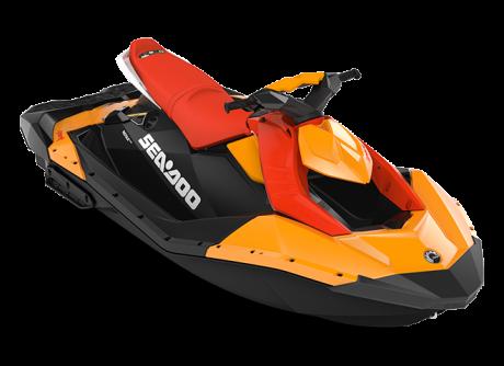 2022 Sea-Doo SPARK 3 up orange-crush/lava-red